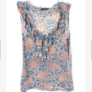 Lauren Ralph Lauren paisley floral sleeveless top